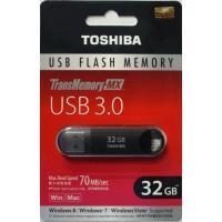 東芝 USB3.0対応 TransMemory-MX V3SZK-032G-BK 32GB USBフ...