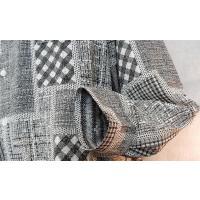 オリエント LAZY HILLS ポリエステル100% パッチワーク風プリントレギュラー衿シャツ 白黒
