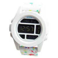 ■商品名 NIXON ニクソン メンズ腕時計 THE UNIT ユニット ホワイト マルチスペックル...