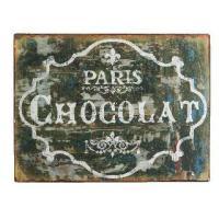 ヴィンテージな風合いを施した、チョコレートの 文字のスチールのプレートのご紹介です。  アンティーク...