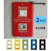 mercury / マーキュリーシリーズのご紹介です。 ■2穴のスイッチプレートです。 ■ネジ付きで...