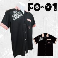 ★ストネコ オリジナル  ボウリングウエア フルグラフィック ポロシャツ FO-01 ネコ柄 名入れ...