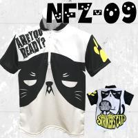 ★ストネコ オリジナル  ボウリングウエア フルグラフィック ハーフジップシャツ NFZ-09 ボウ...