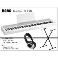 【X型折りたたみ式スタンド&ヘッドフォン付き】  ■ピアノ独特の豊かな低音を再現する新設計のスピーカ...