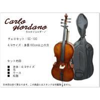 初心者向け弦楽器の定番ブランド「カルロジョルダーノ」 SC-100の4/4サイズのチェロです。  【...