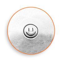 彫金刻印 Smiley Face 3mm*スマイル 革細工 レザークラフトにもOK!
