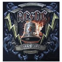 AC/DCオフィシャル・メンズTシャツ(ヘルファイヤー) リキッドブルー製