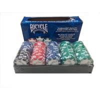 本格!バイスクルブランドのポーカーチップ100枚入りです。チップトレイも付属しています。  【商品内...