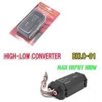 ハイ・ローコンバーターとは、スピーカー出力のままでは、電圧が高すぎてアンプやプロセッサーに入力ができ...