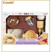離乳食スタートにぴったり!!くまのプーさんの可愛くて便利な9点のベビー食器セットです。電子レンジ・食...