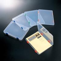 書類や小物をまとめて整理できるプラスチックケース。●規格:A4●色:本体=クリアー(※とじ具の色指定...