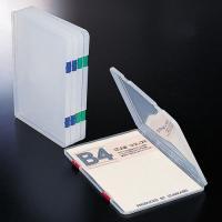 書類や小物をまとめて整理できるプラスチックケース。●規格:B4●色:本体=クリアー(※とじ具の色指定...