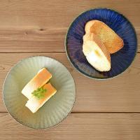 取り皿 おしゃれ 和食器 中皿 軽い 美濃焼 プレート 丸皿 銘々皿 (軽量)窯変釉十草レリーフ5.0皿