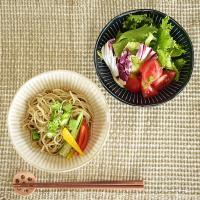 煮物鉢 煮物皿 サラダボウル おしゃれ 和食器 美濃焼 ボウル 中鉢 取り鉢 浅鉢 平鉢 (軽量)撥水十草5.0浅鉢