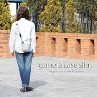 カメラケース camera case 一眼レフ用 「カメラのお洋服 スリム」 スウェットグレーチェック|mi-na|02