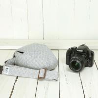 カメラケース camera case 一眼レフ用 「カメラのお洋服 スリム」 スウェットグレーチェック|mi-na|03