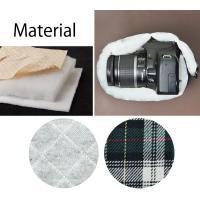 カメラケース camera case 一眼レフ用 「カメラのお洋服 スリム」 スウェットグレーチェック|mi-na|06