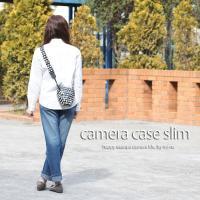 カメラケース camera case 一眼レフ用 「カメラのお洋服 スリム」 ビニールコーティングタイプ ハッピーエレファントネイビー|mi-na|02