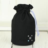 レンズポーチ 大 /ブラック needlework(刺繍)シリーズ mi-na