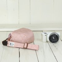 カメラケース camera case ミラーレス一眼カメラ用 カメラのお洋服 ミニ /コーラルレディーローズ|mi-na|03