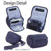 カメラケース camera case ミラーレス一眼カメラ用 カメラのお洋服 ミニ /H.L.ネイビー