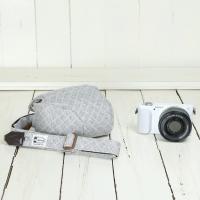 カメラケース camera case ミラーレス一眼カメラ用 カメラのお洋服 ミニ /スウェットグレーチェック|mi-na|03