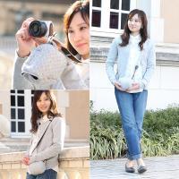 カメラケース camera case ミラーレス一眼カメラ用 カメラのお洋服 ミニ /スウェットグレーチェック|mi-na|04
