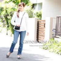 カメラケース camera case ミラーレス一眼カメラ用 カメラのお洋服 ナノ /エレガントブラックレディードット|mi-na|02