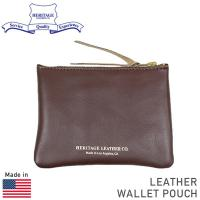 HERITAGE LEATHER CO. レザー コインケース [BROWN] です。  MADE ...