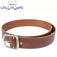 Heritage Leather ヘリテージレザー 1.5 inch レザーベルト [BROWN]で...