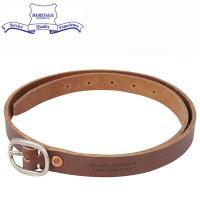 Heritage Leather ヘリテージレザー 0.75 inch レザーベルト [BROWN]...