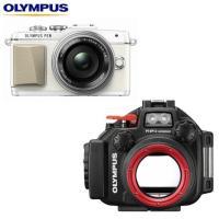 オリンパスミラーレス一眼レフカメラ「PEN Lite E-PL7 レンズキット」と専用防水プロテクタ...