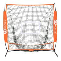 Costway 野球練習ネット バッティングネット 野球練習用ネット 投球練習 練習用ネット 野球ネット おりたたみ式 収納袋付き (150