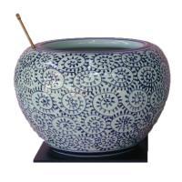 日本製 信楽焼  サイズ: 直径235ミリ×高さ190ミリ  付属品 火箸、灰、敷板   火鉢の口ま...