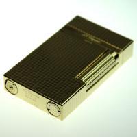 S.T デュポン ガスライター #16284 ライン2 ゴールドプレート ダイヤモンドカット 新ロゴ|mikawatk|04