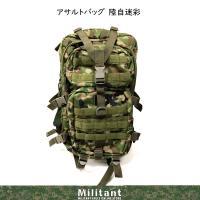 陸自訓練仕様 多用途に使えるアサルトバッグです。 バッグの上部にはアンテナを出す為の穴が開いています...