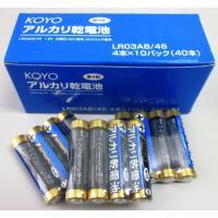 アルカリ乾電池(単四形)4本×10パック