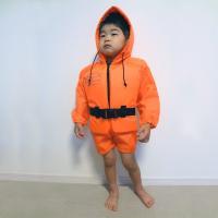 幼児用防災頭巾付救命胴衣(ライフジャケット) 体重20kgまで。 頭と体の保護ができる、防災頭巾を兼...