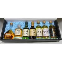 人気の国産ウイスキーミニチュアボトルの詰め合わせ7本セットです。 プレゼントにもおすすめです。リボン...
