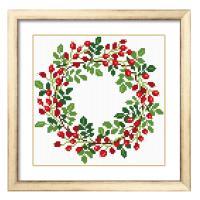・これ素敵っ クロスステッチ 刺繍 キット Flower Wreath              ・...