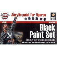アンドレア ブラック(黒色)ペイントセット  BLACK PAINT SET|miniature-park