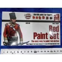 *アンドレア レッド(赤色)ペイントセット  RED PAINT SET 17ml x 6本入[ACS-004]|miniature-park|03