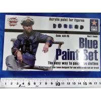 アンドレア ブルー(青色)ペイントセット  BLUE PAINT SET 17ml x 6本入[ACS-005] miniature-park 03