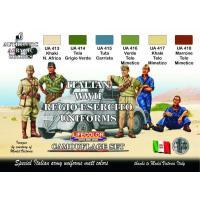 第二次世界大戦 イタリア軍 ユニフォームカラーセット  Italian uniforms of WWII  22ml x 6本入|miniature-park
