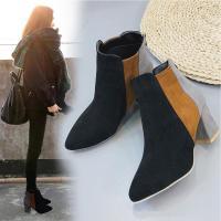 ブーツ ショートブーツ レディース ブーティー 靴 ヒール 秋冬 韓国 歩きやすい