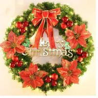 クリスマスリースクリスマス飾り玄関飾りおしゃれ50cm壁掛け店舗用法人用christmas装飾3色キレイ