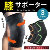 SALE 膝サポーター 3D 立体編み 右膝 左膝 左右兼用 保護 伸縮 ひざ サポート 2枚1セット セール