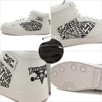 スラッシャー フットウェア ブキャナンドッグ THRASHER footwear メンズ レディース スニーカー WHT GRAIN LEA/BLK ROLL OVER LOGO  TS-160-004 SS16