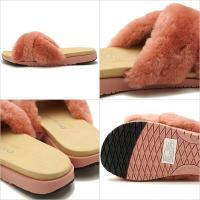 日本別注 emu エミュー ムートン スリッパサンダル 靴 レディース MAREEBA マリーブ BLUSH PINK  W11800 SS18