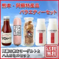 熊本 阿蘇 お歳暮 ギフト 特産品バラエティセット03 阿蘇の飲むヨーグルトとハムのミニセット